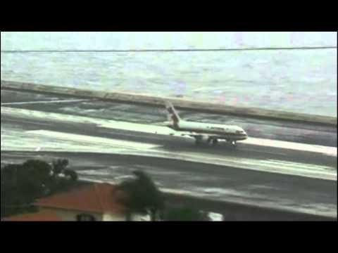 CRAZY Crosswind Landings At Madeira Funchal Airport Portugal - Aircraft Landing Aborts Bad Landings