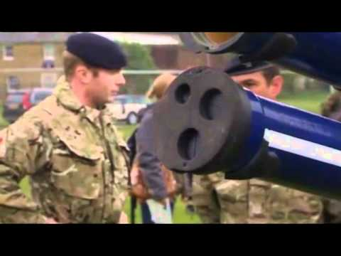London Olympic preparations: missile launchers in Blackheath