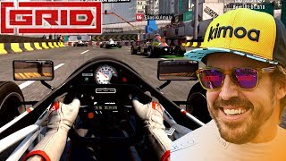 GRID 2019 Fernando Alonso New Exclusive Raw Gameplay | F1000 Jedi and F1 Renault R26