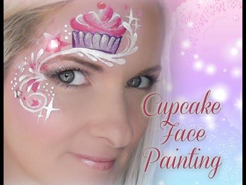 Cute Cupcake Faces Cute Cupcake Face Painting