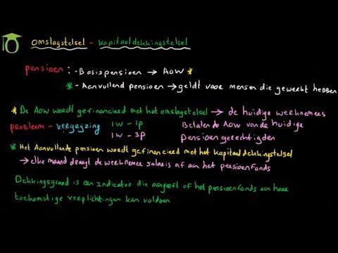 Pensioen: kapitaaldekkingstelsel en omslagstelsel - (economie)