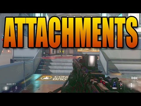 Advanced Warfare - All Weapon Attachments! Parabolic Microphone and More! (Call of Duty Multiplayer)