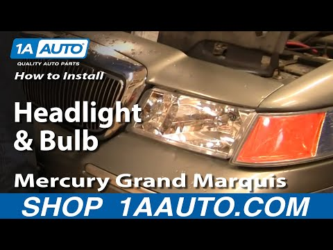 How To Install Replace Headlight and Bulb Mercury Grand Marquis 98-02 1AAuto.com