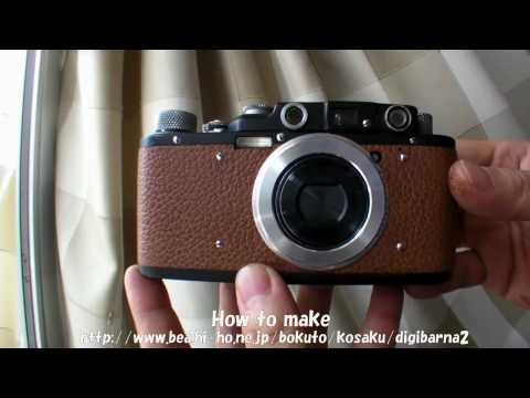 sony DSC-WX1 into classic leica II DIY (film camera changes digital)