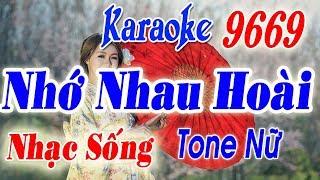 Karaoke Nhạc Sống | Nhớ Nhau Hoài | Tone nữ | Keyboard Long Ẩn