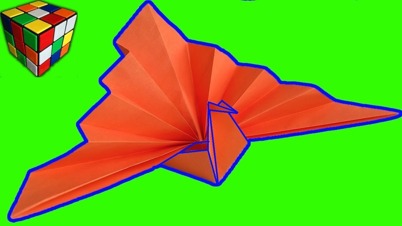 How to fold an origami peacock or turkey on Vimeo