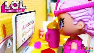 Poupées LOL Surprise - Histoire de jouets - Show baby et Angel mangent une Pizza - Confetti Pop