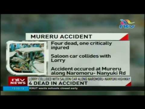 Four people die in a road accident along the Naromoru-Nanyuki road