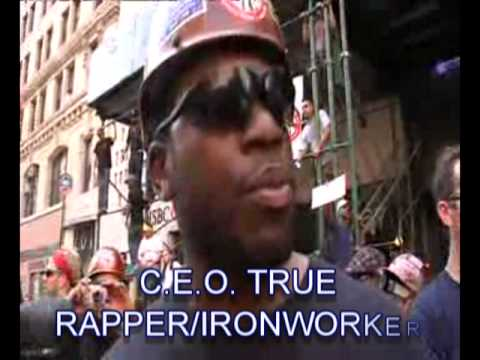 FAR ROCKAWAY RAPPERS RHYTEHITTERS C.E.O.TRUE/NY1 NEWS/ IRONWORKERS UNION RALLY