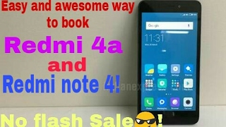 Easy and awesome way to book a Redmi 4a or Redmi note 4 |Geekytamizha தமிழா