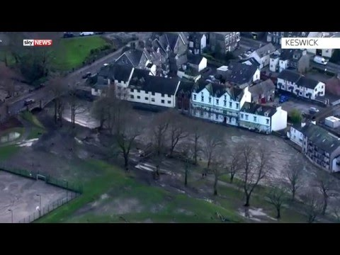 UK Floods: Aerial Footage From Across The North West