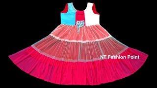 Kids birthday special baby dress cutting & stitching | Birthday dress