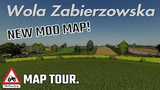 Wola Zabierzowska, NEW MOD MAP! MAP TOUR. Farming Simulator 19, PS4, New to Console!