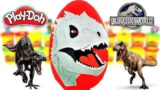 Huevo Sorpresa Gigante de Indominus Rex de Jurassic World 2 Plastilina Play doh Español