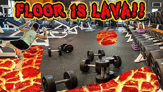 (LIVE STREAM!) THE FLOOR IS LAVA CHALLENGE AT THE GYM! | AWKWARD PUBLIC FLOOR IS LAVA CHALLENGE