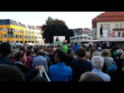 Angela Merkel in Bautzen 21.08.2014 8 minuten mitschnitt ...