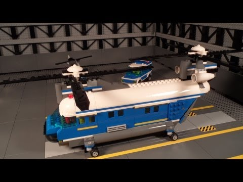 Lego 4439 Review Heavy-Duty Helicopter City