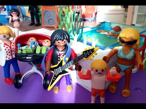 Playmobil film movie summer fun travel the world and experience vacations and holidays in - Piscine moderne playmobil ...