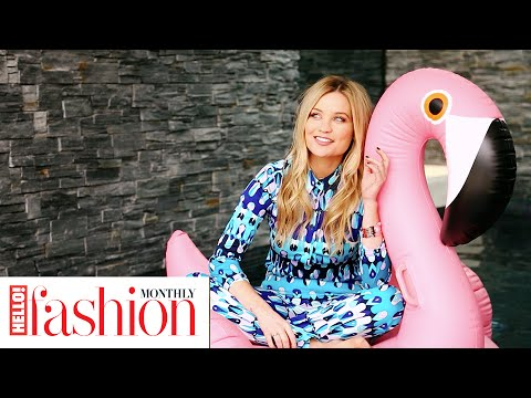Watch Laura Whitmore make a splash in her BTS #HFM photo shoot