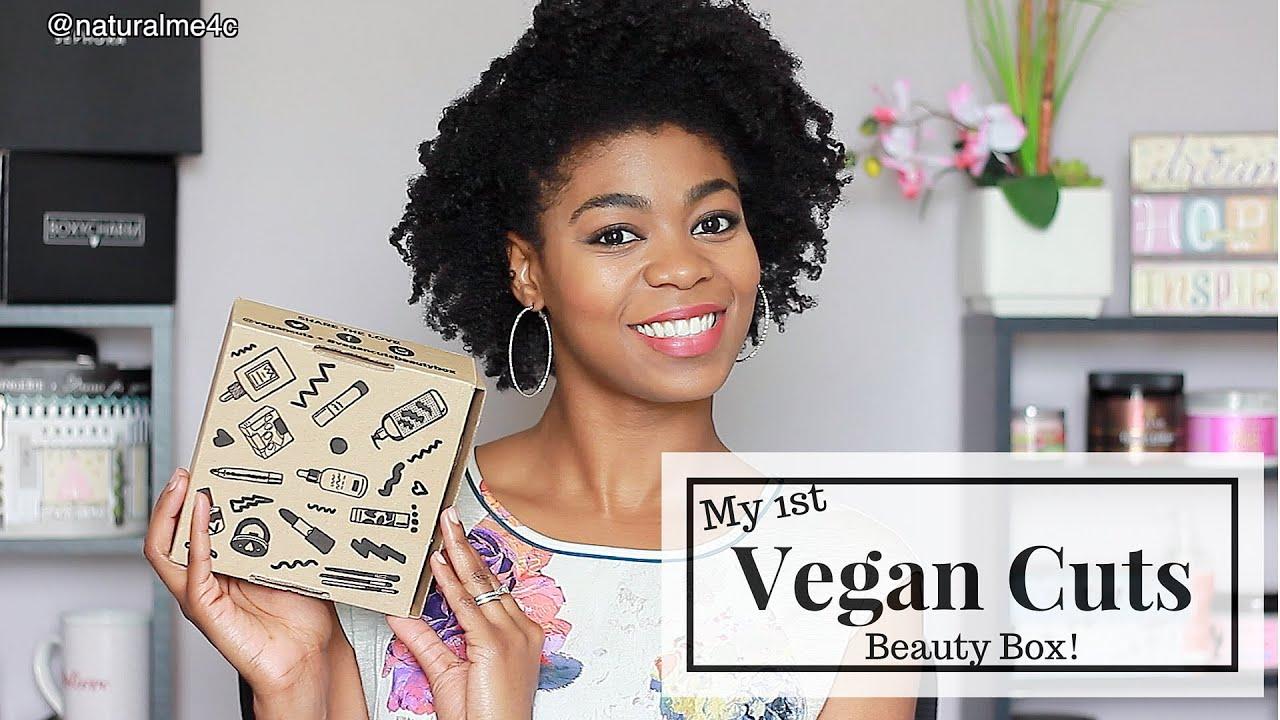 My 1st Vegan Cuts Beauty Box! - (Vegan, Organic, Cruelty Free Products!) - NaturalMe4C
