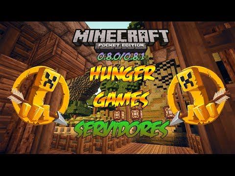 Minecraft PE 0.8.1   Servidores de Los Juegos del Hambre