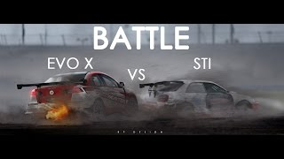 #BATTLE EVO X vs STi  SPECIAL VIDEO [TIMELAPSE] by RP. DESIGN