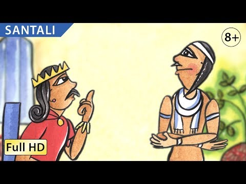 The King's Secret: Learn Santali With Subtitles - Story For Children bookbox video