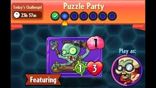 Puzzle Party !!! Daily Event 16 th Jan 2019 Plants vs Zombies Heroes day 2