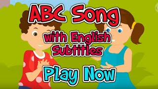 ABC song with English Subtitles - Nursery Rhymes & Songs in HD