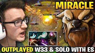 Miracle Carry Mid Earthshaker - OUTPLAYED W33 and VP.SOLO SO HARD