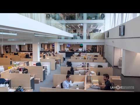 Salle de rédaction de La Presse à Montréal