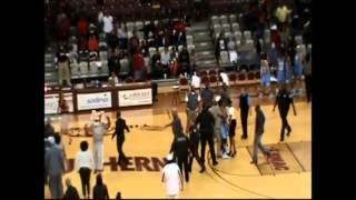 Women's basketball brawl erupts, includes cheerleaders and results in 15 suspensions