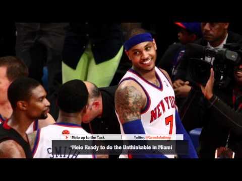 Carmelo Anthony Ready to Make History vs. Miami Heat