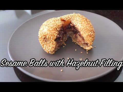 Sesame Balls with Chocolate Hazelnut Filling - YouTube