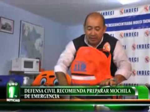 DEFENSA CIVIL RECOMIENDA PREPARAR MOCHILA DE EMERGENCIA