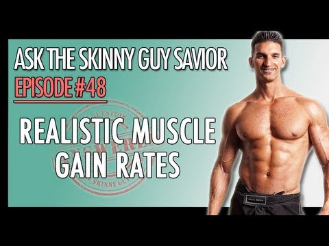 Muscle Gain Rate? Realistic Rate Of Gaining Muscle For Skinny Guys