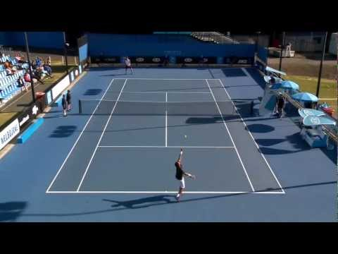 Nick Kyrgios vs Sam Groth: Australian Open 2013 Play-off Highlights