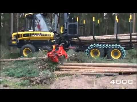 Harvesting Head Nisula 400C on Ponsse Forwarder Combi