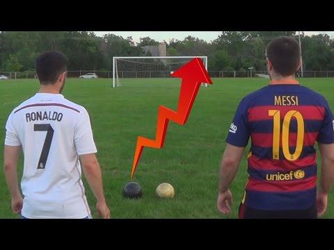 Cristiano Ronaldo vs. Messi - Crossbar Challenge | In Real Life!