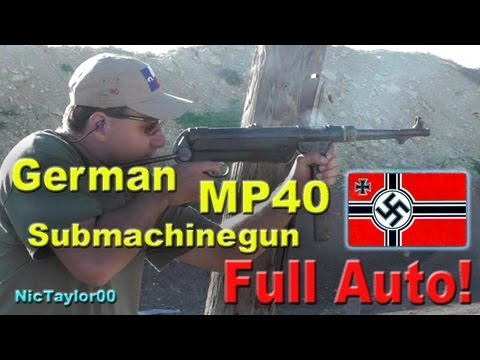 Full Auto German MP40 Submachinegun (9mm Schmeisser)