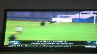Resumen Completo Quilmes 3 vs Brown 0. 1/2/14