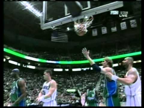 Dirk Nowitzki 34 pts vs Mehmet Okur 32 pts, season 2006 mavs vs jazz