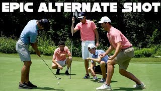 5 Golfers, 1 Golf Club, 1 Golf Ball, 5 Golf Holes | Alternate Shot