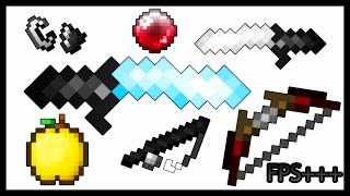 MINECRAFT PVP TEXTURE PACK - DEFAULT RED EDIT UHC, SOUP FPS+++ 1.7.X/1.8.X