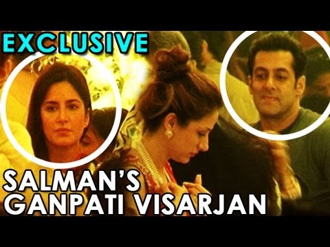 Katrina Kaif Attended Salman Khan's Ganapati Visarjan | Exclusive video