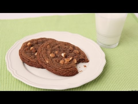 Giant Chocolate White Chocolate Chip Cookies Recipe - Laura Vitale