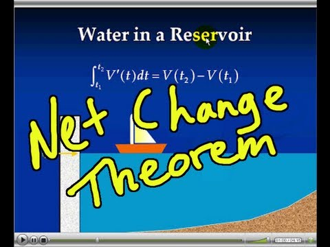 Net Change Theorem and Applications of Integrals