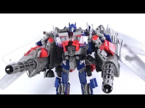 Video Review of the Transformers 3 Dark of the Moon; Takara/Tomy DA15 Jetwing Optimus Prime