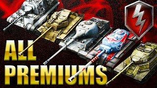 ALL PREMIUM Tanks REVIEW (Tier 8) ||World of tanks Blitz||