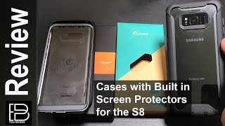2 Cases with Built in Screen Protectors for the S8+